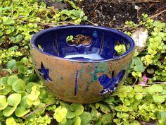 Dark blue speckled trinket dish decorative by TarynGraceDesigns