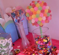 Fun candy party and home made Jube Jube tree