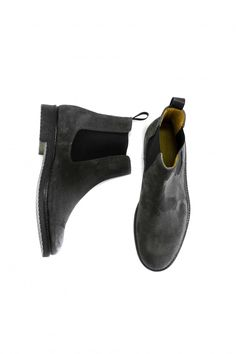 Grey Suede Chelsea Boots by Marco Cooc - Mens