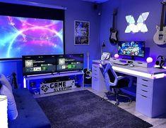Computer Gaming Room, Gaming Room Setup, Gaming Rooms, Gaming Pcs, Best Gaming Setup, Computer Room Decor, Cool Gaming Setups, Best Pc Setup, Computer Desk Organization