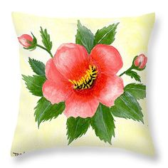 "Simply 14"" x 14"" Throw Pillow by Flamingo Graphix John Ellis.  Our throw pillows are made from 100% cotton fabric and add a stylish statement to any room.  Pillows are available in sizes from 14"" x 14"" up to 26"" x 26"".  Each pillow is printed on both sides (same image) and includes a concealed zipper and removable insert (if selected) for easy cleaning."