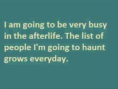 Going to haunt