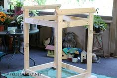 Make a window greenhouse | Frame For A Window Greenhouse | DIY project at empressofdirt.net