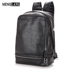 a4df72ec9ddf Backpacking Backpack Men Brand Design Waterproof Laptop Genuine Leather Men  Backpack For Men High Quality Casual