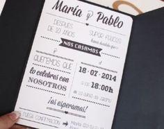 tarjetas de bodas en español en blanco y negro