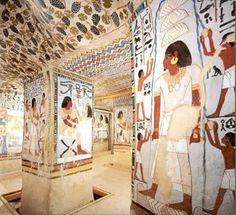 Tumba de Sennefer, alcalde de la ciudad de Tebas. Dinastía XVIIIª, época de Amenemhet II.