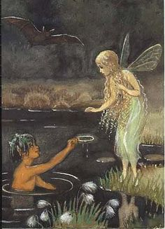 ≍ Nature's Fairy Nymphs ≍ magical elves, sprites, pixies and winged woodland faeries - Bubbelimuck - by Elsa Beskow