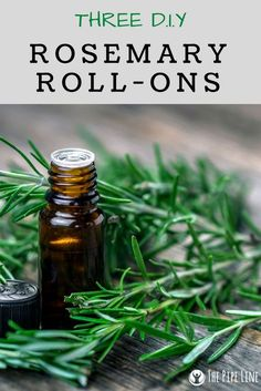 Happy Friday! Celebrate the end of a long week with 3 Rosemary DIY Roll-On Blends