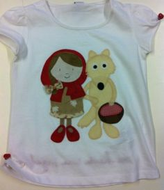 Caperucita y el lobo Embroidery Applique, Embroidery Patterns, Stencils, Sewing, Girls, How To Make, Crafts, Clothes, Fashion