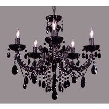 """View the Classic Lighting 8345-BBLK 23"""" Crystal Chandelier from the Rialto Traditional Collection at LightingDirect.com."""