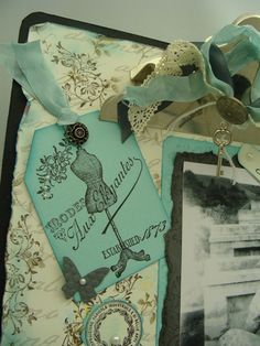 Vintage Clipboard, a Vintage Gift Jar and a Matching Vintage Gift Bag.  Here are the projects