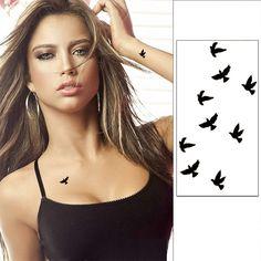 10cm Wrist Flash Tattoo Fake Tatto Birds Design Waterproof Temporary Tattoo Sticker For Body Art Women Flesh Tatoos 2016 WTA0001