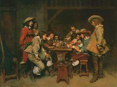A game of piquet - Jean-Louis Ernest Meissonier - 1861