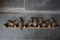 Antique Cast Iron Birds on Branch Coat Hook Bar