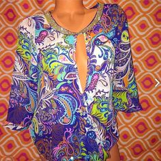 Medium Sexy Blouse 3/4 sleeves Brand new with tags --loose fit Tops Blouses