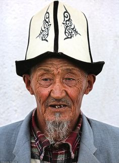 The wanderlust photographer said that there are hundreds of 'unique ethnic minority groups in the world and that the people he has met and talked with like this elderly man from Tajikstan's Pamirs are 'incredible people'