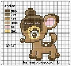 Deer baby cross stitch.