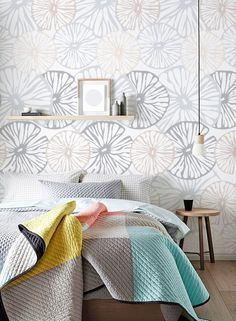 Self-adhesive Light Flower vinyl Wallpaper wall sticker accent wall - wallpaper decal C056