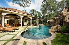 The Formal Natural Mix - mediterranean - pool - houston - Marquise Pools