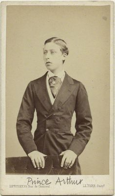 7th Child of Queen Victoria (1819-1901) & Prince Alfred (1819-1861) & husband of Princess Louise Margaret of Prussia (1860–1917).  Prince Arthur (Arthur William Patrick Albert) (1850-1942), Duke of Connaught and Strathearn by Le Jeune, circa 1868.