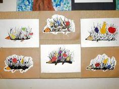 Kindergarten Art Lessons, Art Lessons For Kids, Art For Kids, Autumn Crafts, Autumn Art, Animal Crafts For Kids, Kids Crafts, Fall Art Projects, Ecole Art