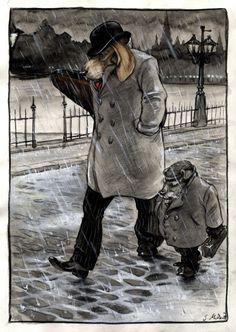 Walking in the rain... by cidaq.deviantart.com on @deviantART