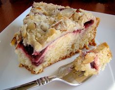 This is one of my favorite coffeecakes. It is pretty and it taste wonderful! Warm the jam slightly and it will spread easier. Using the sour cream and milk mixture makes it even more tender.