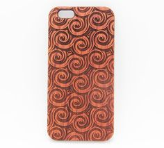 Swirl Wave Natural Wood Engraved Samsung Galaxy S6 Case,Samsung Galaxy S6 edge Case,Samsung Galaxy S
