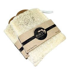 100 Natural Loofah Soap Saver Duo Set By Juicy Skin Care  Loofah Body Scrubber for Shower For Soap Saver -- Find out more about the great product at the image link.