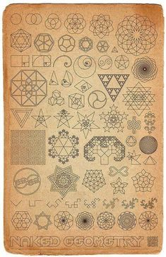 Sacred geometry. Ideas for patterns on my geometry notebook?                                                                                                                                                                                 More