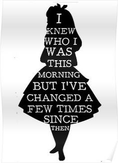 Alice In Wonderland I Knew Who I Was Quote Mad Hatter Chesire Cat Poster Alice im Wunderland Ich wusste, wer ich war Zitat Mad Hatter Chesire Cat Poster Alice In Wonderland Drawings, Alice And Wonderland Quotes, Alice In Wonderland Tea Party, Alice In Wonderland Silhouette, Alice In Wonderland Printables, Wonderland Events, Adventures In Wonderland, Alice Quotes, Disney Quotes