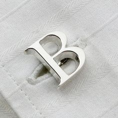 single letter initial silver cufflinks by english cufflinks | notonthehighstreet.com