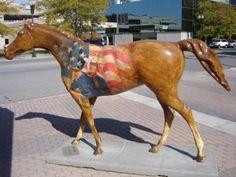 'The Duke' - by Steve Songer;  one of 24 fiberglass horses in Ogden, Utah (2008)