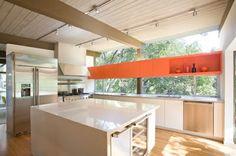 touch of orange, kitchen cabinets #orange #kitchen