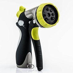 Hose Garden Nozzle - Hand Sprayer - 8 Pattern  Adjustable - Slip Resist