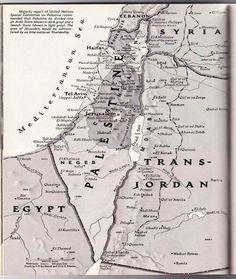 Mappa della #Palestina 1948, prima che Israele ne occupasse il 50% dei territori con la guerra del 1948-49. [NatGeo] #Gaza