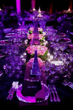 Parisian Theme - Table setting - GLORIA METI Inc.-- so great!!!!