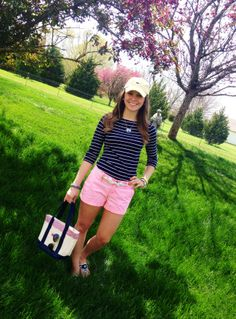 Preppy Summer Outfits and STYLE 2019 summer outfits damen Short Outfits, Casual Outfits, Cute Outfits, Girly Outfits, Preppy Summer Outfits, Spring Outfits, Style Preppy, Preppy Looks, Southern Style Outfits Preppy