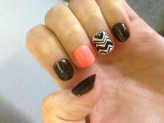 Shellac nail art #shellac #gelish