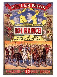 Miller Bros 101 Ranch, Western Poster, 1900s