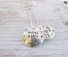Mama Bird Nest Egg Personalized Hand Stamped by designsbydawnrenee