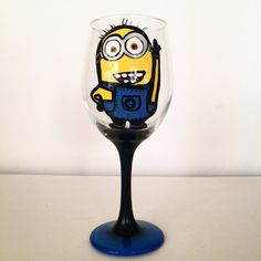 Minion wine glass - 20 oz by http://creativeboozing.com/