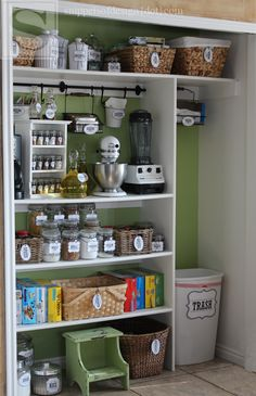 Redecorated & Reorganized Pantry Ideas Including Free Printables/ Snippets of Design