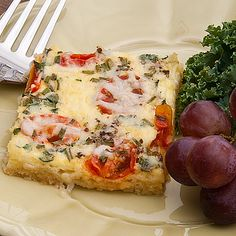 Tomato and Herb Quiche for a crowd from @realmomkitchen