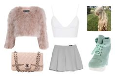 """""""₡ŁUEŁE$$"""" by swagchicfashion ❤ liked on Polyvore featuring Rare London, Miss Selfridge, MANGO and Chanel"""