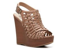 Mix No. 6 Weavy Wedge Sandal - I really really love the heavy criss-cross pattern of this one >. Cute Sandals, Wedge Sandals, Shoes Sandals, Heels, Sandal Wedges, Nude Shoes, Crazy Shoes, Me Too Shoes, Tan Wedges