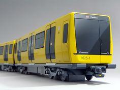 büro+staubach / Metro Car Berlin, Series IK for Stadler Rail Group Corporate Identity Design, Train Sketch, Bahn Berlin, Underground Tube, Metro Rail, Metro Subway, S Bahn, Train Tracks, Transportation Design