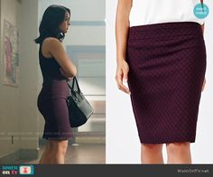 RW&CO. Modern Stretch Diamond Pattern Pencil Skirt worn by Camila Mendes on Riverdale Veronica Lodge Fashion, Veronica Lodge Outfits, Verona, Veronica Lodge Riverdale, Red And Black Outfits, High Waisted Skirt, Fashion Dresses, Costumes, Purple