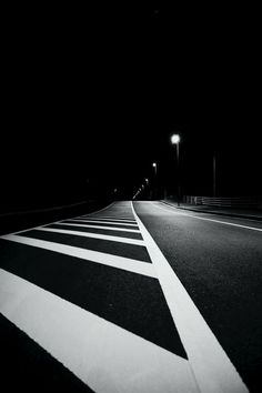 The lines and the lights pull you down the road, into the image  // By Yasuhisa Furusato