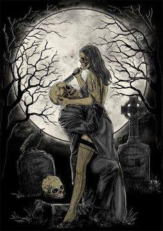 Goth art so Art Deco. Dark Fantasy Art, Dark Gothic Art, Dark Artwork, Skull Artwork, Grim Reaper Art, Beautiful Dark Art, Bild Tattoos, Skeleton Art, Skeleton Love